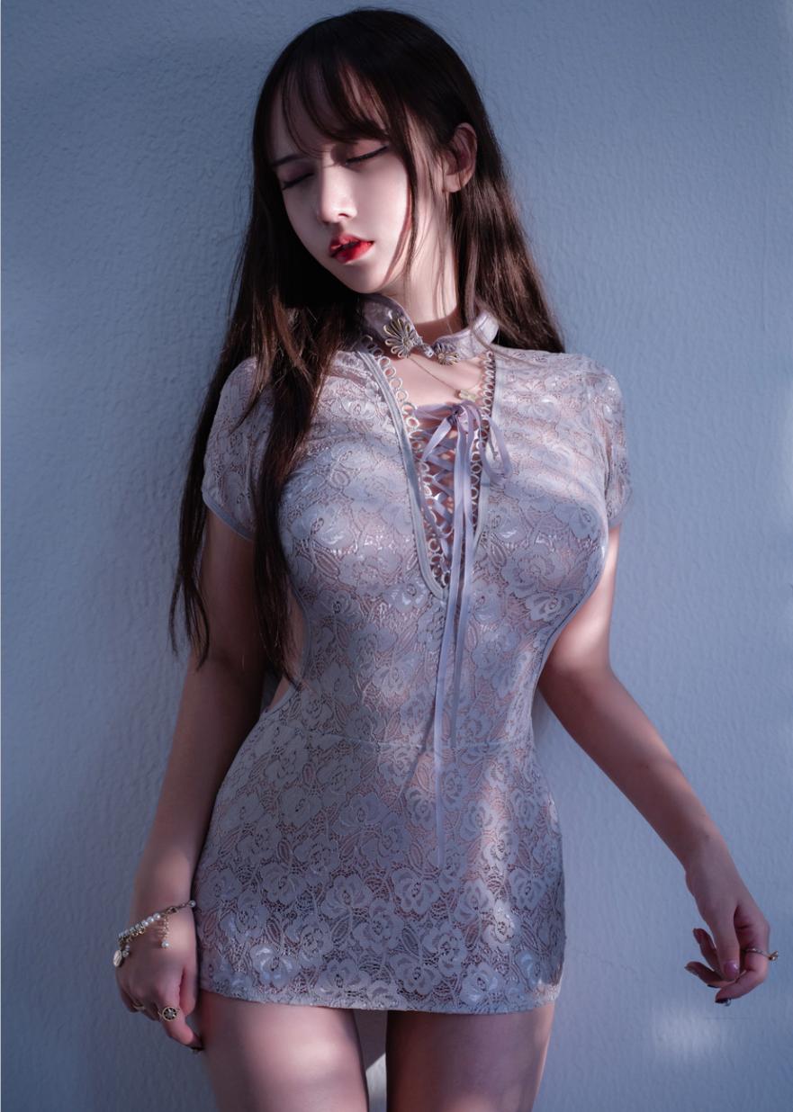 [过期米线线喵] NO.052 旗袍灰色[29P-665MB]